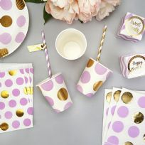 Pattern Works Lilac Dot Paper Cups (8)